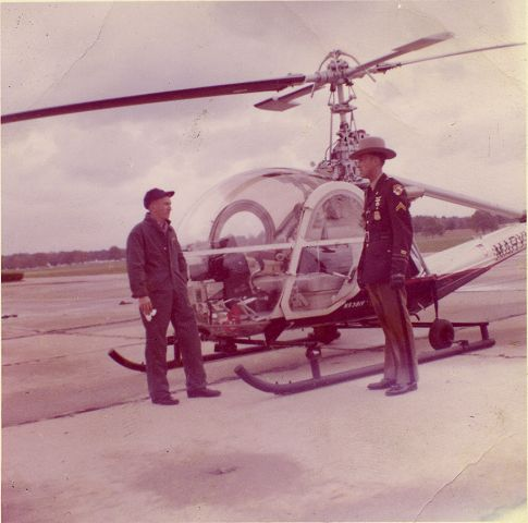 Picture of first helicopter in the Maryland State Police Aviation