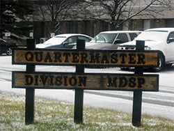 Image of Quartermaster Divison sign